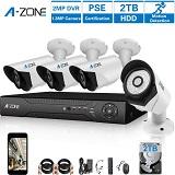 A-Zone AHD 4CH DVR + 4 Camere + 2TB HDD