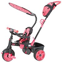Little Tikes 4 in 1 Deluxe Rosa triciclo bambina