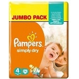Pampers Simply Dry Pannolini Maxi Taglia 4
