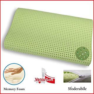 Venixsoft Ortopedico Memory Foam e Aloe Vera