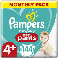 Pampers Baby-Dry Nappy Pants Taglia 4+