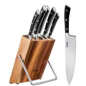 Aicok Set 5 Coltelli da Cucina con Ceppo