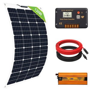 Eco-Worthy Pannello Solare Flessibile 130W